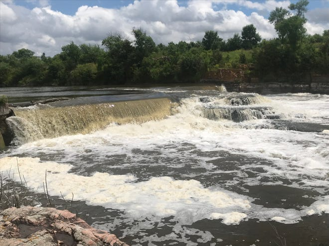The dam at the Big Sioux River will be a centerpiece of the new trail system.