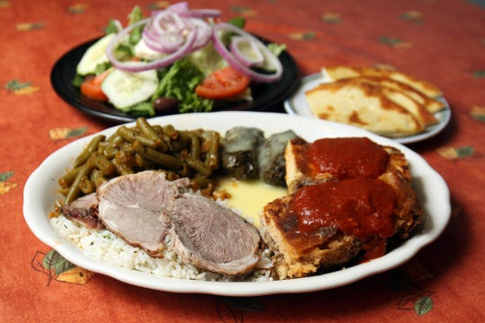 A Greek combination dinner served by Papouli's Restaurant in Reeds Spring in 2011. The restaurant announced June 20, 2019 that it would permanently close, following a May 1 fire.