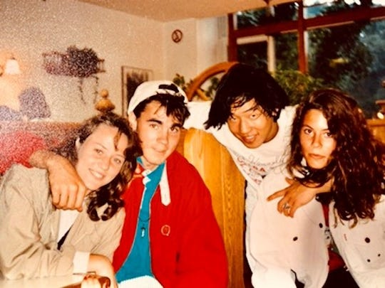 Tahuan, myself and friends 1992 in Germany.