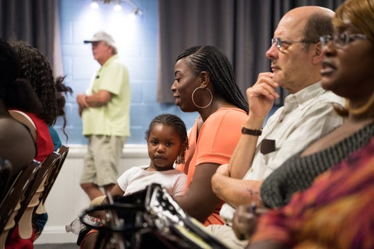 The NAACP hosts a community discussion at the East 10th Street Community Services Division on Thursday, June 20, 2019, to discuss policing and crime in the community. The event, attended by Stuart Police Chief Joseph Tumminelli and Martin County Sheriff's Office Major Robert Seaman, was held after residents expressed concerns about safety following a fatal shooting in May.