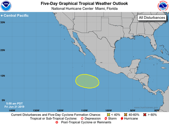 Tropical disturbance June 21, 2019.