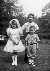 Joe Biden (right) with his younger sister Valerie and his younger brother Jimmy.