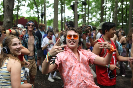 Scenes from Silent Disco inside the Thicket at Firefly Music Festival on Friday June 21, 2019 in Dover.
