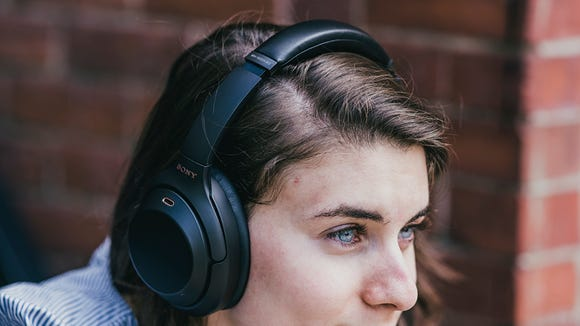 "These top-of-the-line Sony headphones feature ""Adaptive Sound Control"" technology."