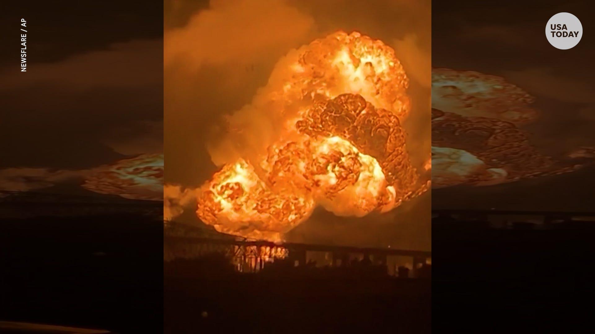 Fireball from oil refinery fills Philadelphia skyline
