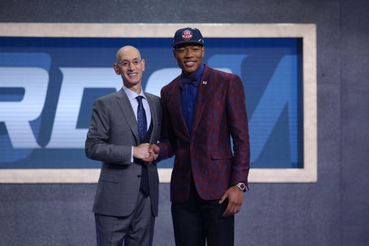 Former Gonzaga forward Rui Hachimura was drafted by the Wizards at No. 9.