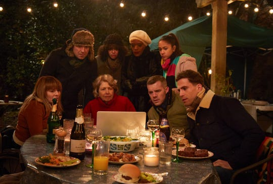 The Lyons family gathers around a laptop to learn some devastating news in the premiere of HBO's 'Years and Years.'