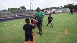 Oakland Raiders running back and former Peabody Magnet High School football player Jalen Richard held his second annual football camp Saturday.
