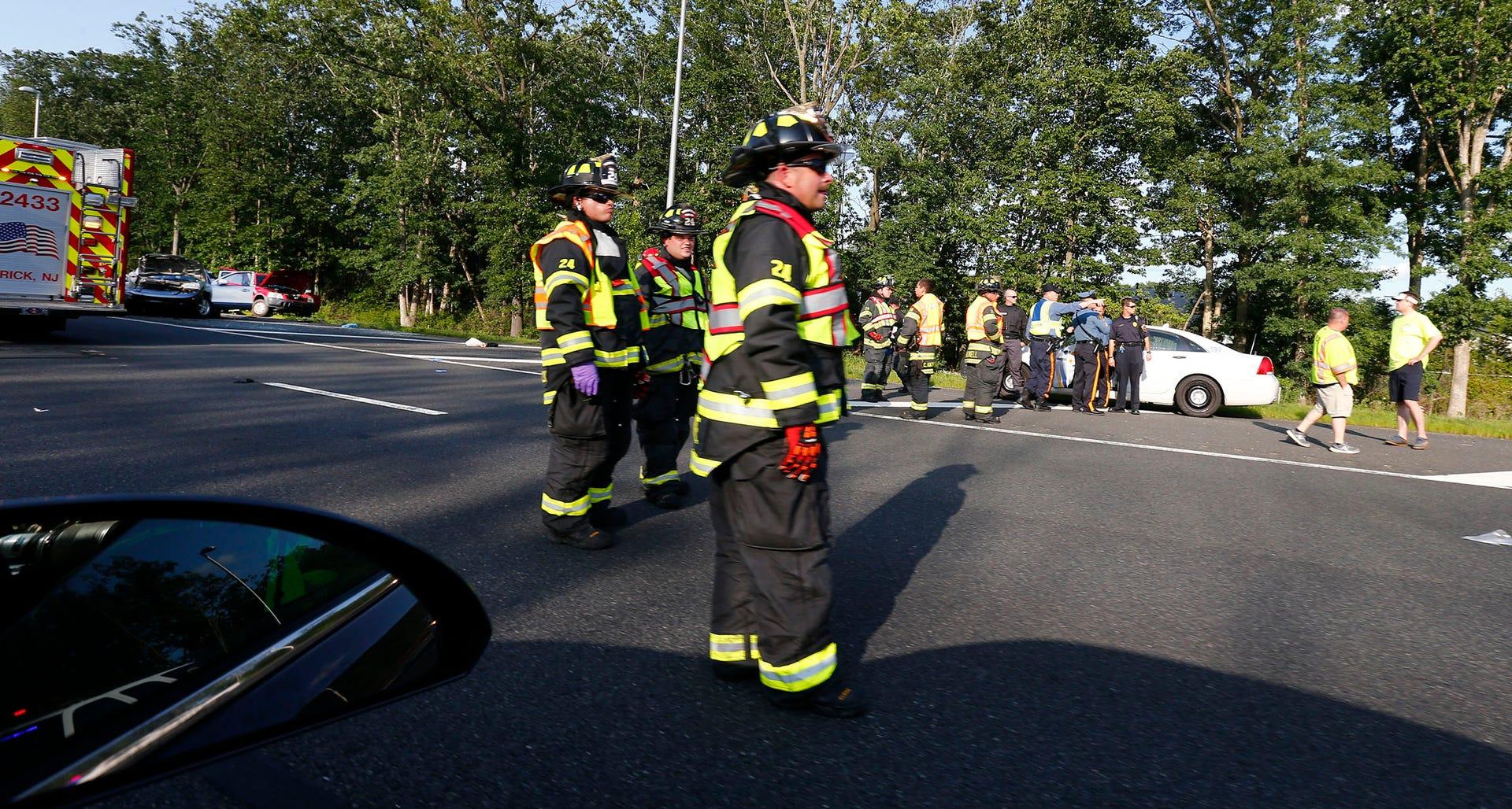 Fatal car crash on Garden State Parkway in Brick