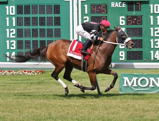 Valedictorian cruises to victory in the Grade III $150,000 Eatontown Stakes at Monmouth Park.