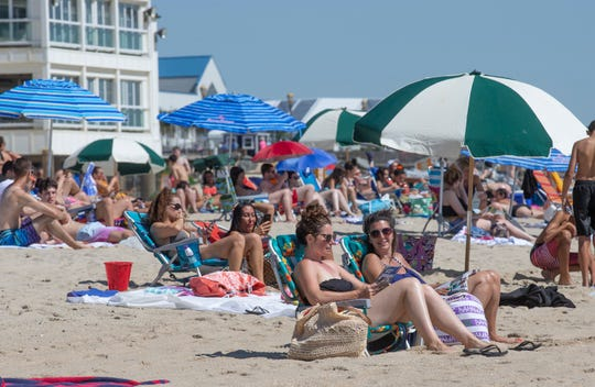The weather on New Jersey beaches is expected to be mostly sunny for the Fourth of July 2019.