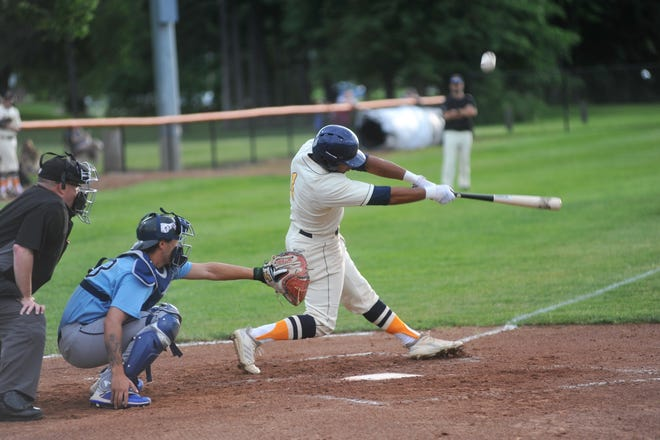 Galion's DeVonte Washington scored the lone run of game two for the Graders against the Xenia Scouts.