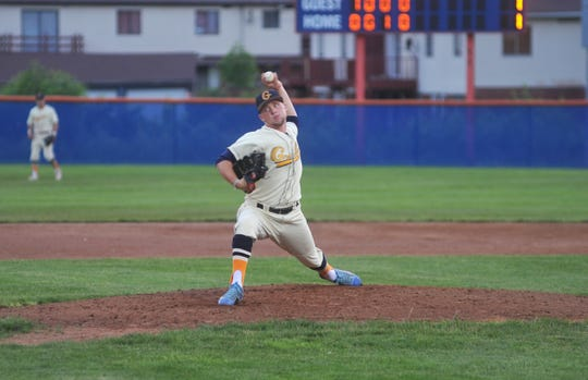 Galion's Chase Jessee pitched in relief against the Xenia Scouts in game two.
