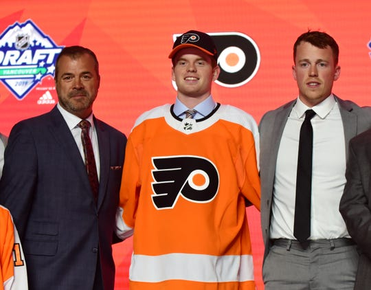 The Flyers selected Cam York with the 14th pick in Friday night's NHL draft.