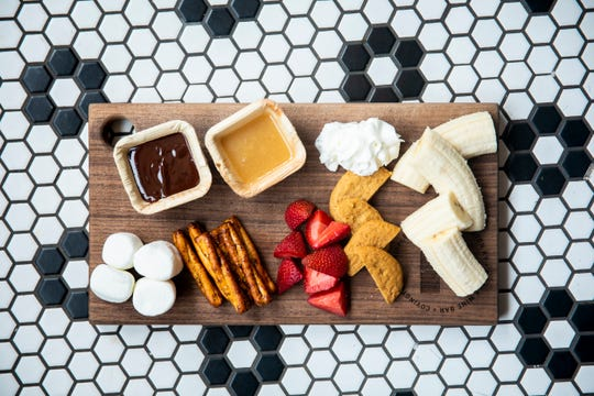 Ripple Wine Bar serves a dessert charcuterie board.