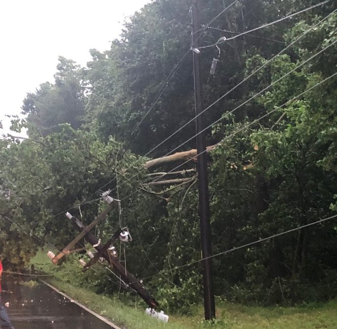 CEMC crews were working on downed lines across Montgomery County and the five-county service area on Friday night and Saturday morning.