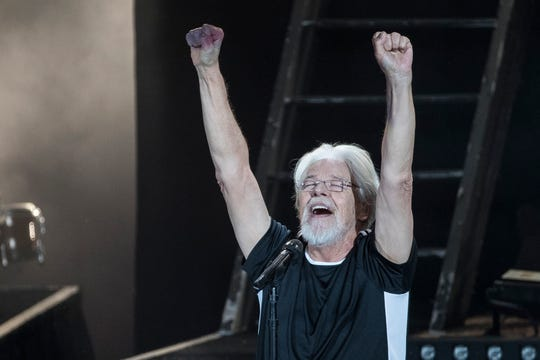 Bob Seger and the Silver Bullet Band plays in front of a sellout crowd for the last of a six-show run at the DTE Energy Music Theatre in Clarkston, Friday, June 21, 2019.