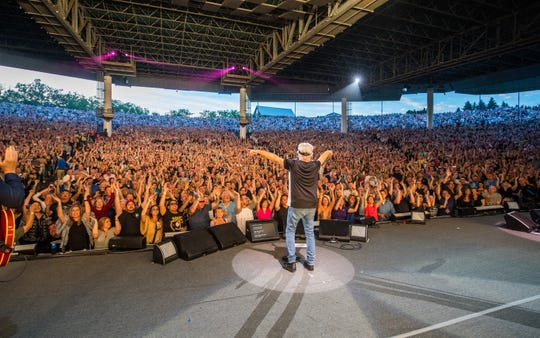Bob Seger and his fans at DTE Energy Music Theatre, the former Pine Knob, on June 21, 2019.