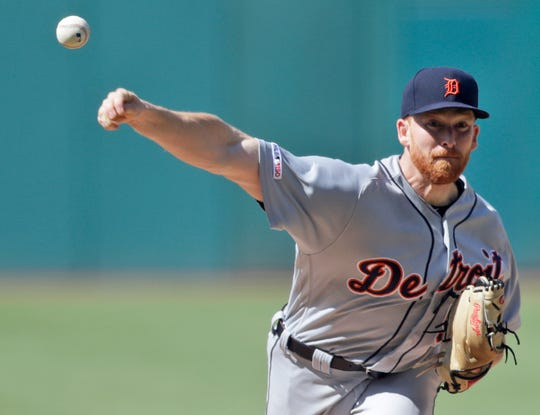 Tigers pitcher Spencer Turnbull delivers in the first inning Saturday.