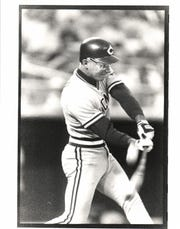 Infielder Chris Sabo starred for Michigan before he (and his goggles) had a productive MLB career.