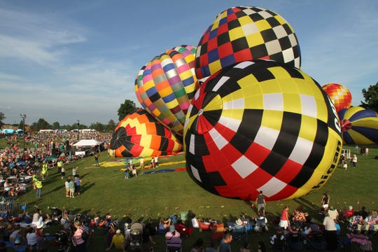 Pilots will be launching and landing hot air balloons all weekend in Howell during the Michigan Challenge Balloonfest.