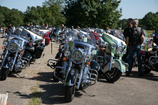 The Indian Motorcycle Riders Group Spartan Chapter attempts to break the Guinness World Book of Records for the longest parade of Indian Motorcycles. The ride was held at Stoney Creek Metro Park Saturday, June 22, 2019 in Shelby Township.