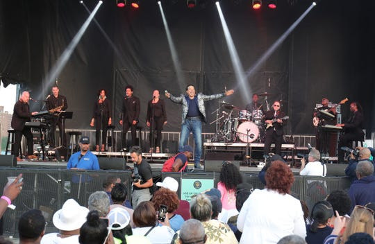 Smokey Robinson performs at River Days festival in West Riverfront Park in Detroit on Friday, June 21, 2019.