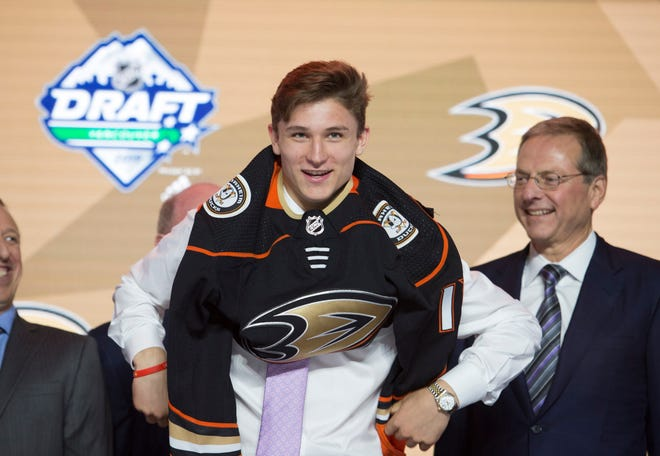 Trevor Zegras was the third NTDP player to be drafted in the first round of Friday's NHL Draft, which tied the team's record.