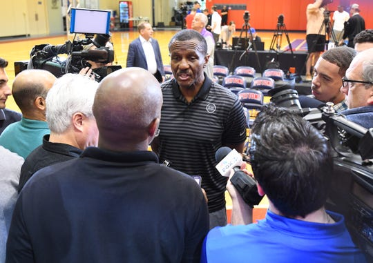 After spending seven seasons in Toronto, Pistons coach Dwane Casey watched the Raptors win the NBA title this season.