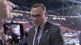 Detroit Red Wings general manager Steve Yzerman discusses the team's first-round selection of Moritz Seider at the NHL Draft in Vancouver.