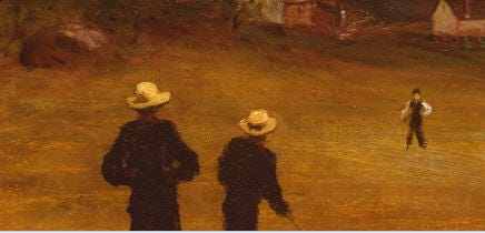 The Ball Players, 1871, William Morris Hunt, American; oil on canvas.