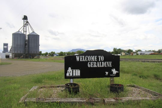 Welcome to Geraldine sign