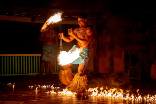 Fire dancing is just one of the many cultural displays and performances planned at the Athlete's Village in Samoa during the 16th Pacific Games.