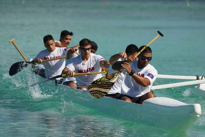 Team Guam, entered as the Nationals, swept all adult division races in the opener of the MPRA Galaide Cup Series June 22 at Matapang Beach Park in Tumon.