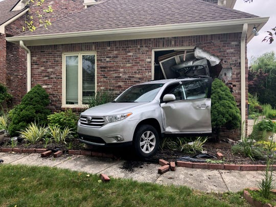 Carmel Police Sgt. Chris Dunlap said officers responded to the scene of what appeared to be a vehicle, without anyone behind the wheel, that ran over its owner and wrecked into a nearby home.