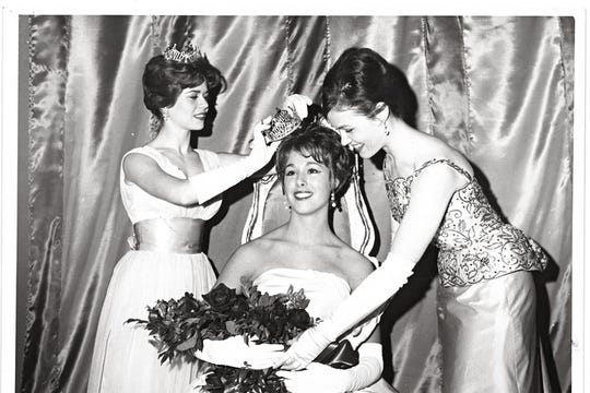 E. Jean Carroll being crowned Miss Indiana University in 1963.