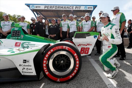 Harding Steinbrenner Racing rookie Colton Herta scored the first podium of his career Saturday at Road America.