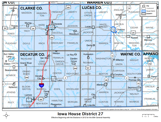 Iowa House District 27 is currently held by State Rep. Joel Fry, R-Osceola.