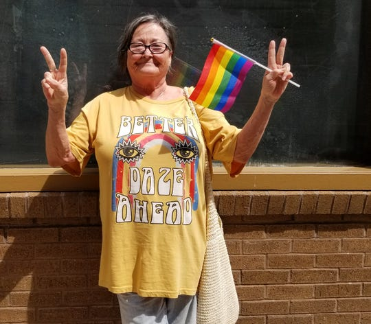 Glenna Mcrae supports the LGBTQ community at Knoxville's Pridefest 2019.