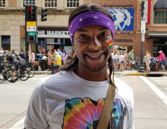 DJ Williams from Charlotte, North Carolina came to Knoxville to celebrate Knoxville's Pridefest 2019.