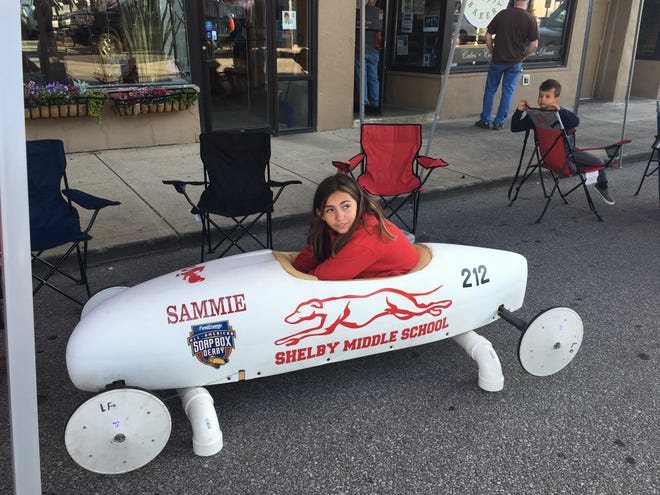 Sammie Thompson, 12, who will be entering seventh gradeat Shelby Middle School in the fall, won the super stock championship in a field of 13racers.