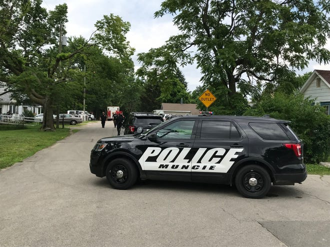 Authorities on Saturday afternoon were in the 2700 block of South Liberty Street, where a local man had been killed, perhaps several hours earlier, in a motorcycle crash.
