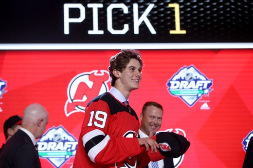 various colors 4e60b 435d2 NHL Draft: Projecting the NJ Devils' lineup with Jack Hughes