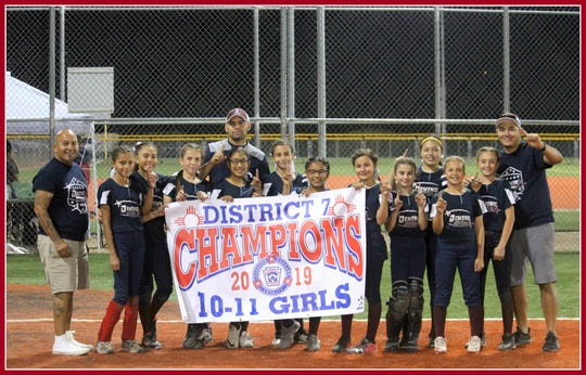 The Deming All-Stars captured the New Mexico Little League District 7 Softball Championship in the Major Division (ages 10-11) with a week-long sweep of Grant County all-star teams. Deming defeated the Bayard Copper League All-Stars, 19-0, and the Silver City All-Stars twice, 19-2 and 8-6.
