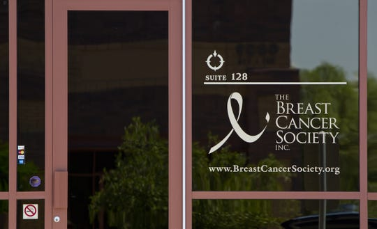 The exterior of The Breast Cancer Society Inc. in Mesa, Arizona, in September 2012.