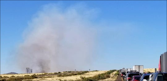 Motorists are facing delays along northbound Interstate 17, north of Sunset Point, because of smoke from the Badger Springs Fire, according to the Arizona Department of Public Safety.