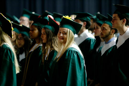 Scenes from the Spackenkill High School graduation at the Majed J. Nesheiwat Convention Center in the City of Poughkeepsie on June 21, 2019.