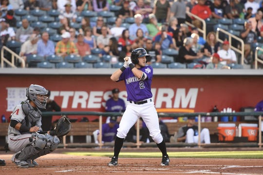 Reno High graduate Garrett Hampson is playing baseball for the Albuquerque Isotopes.