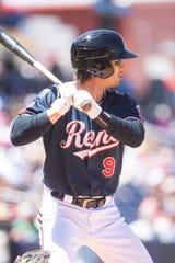 Reno Aces catcher John Ryan Murphy at bat earlier this season