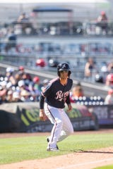 Reno Aces catcher John Ryan Murphy leads from third in a recent game